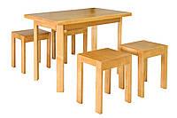 Стол кухонный Олимп и 4 табурета