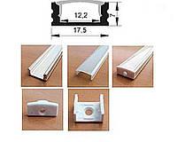 ЛП-8 Профиль накладной для LED линейки Biom (2м) анодированный алюминий