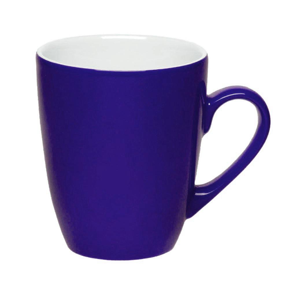 Чашка керамическая Куин. Цвет - синий. Для нанесения логотипа методом обжиговой деколи, фото 1