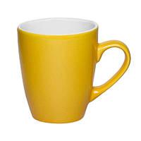 Чашка керамическая Куин. Цвет - желтый. Для нанесения логотипа методом обжиговой деколи