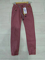 Подростковые котоновые брюки на манжете