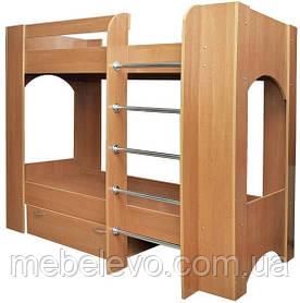 Кровать двухъярусная Дуэт 2  1600х880х1930мм  70х190 Пехотин