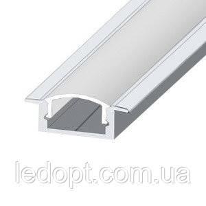 Алюминиевый профиль врезной для светодиодной Led ленты ЛПВ-7