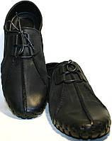 Мокасины мужские Luciano Bellini 23406, черные, нубук