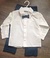Нарядный костюм для мальчика с бабочкой  размер 86