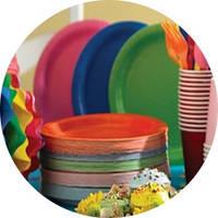 Праздничные одноразовые тарелки