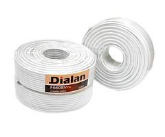 Коаксиальный кабель Dialan F660BV Cu 1,02 мм Экранирование 60% 75 Ом 1м