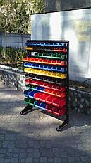 Стелаж для метизів 1500мм 93 ящика, для дрібних деталей односторонній, фото 3