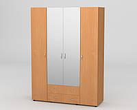 Шкаф - 7 в спальню с зеркалами ДСП / КОМПАНИТ, фото 1