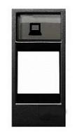 ABB Zenit Лицевая панель комуникационных розеток (1 модуль) антрацит