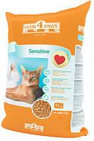 Сухой корм Клуб 4 лапы для кошек с чувствительным пищеварением, 3 кг