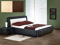 Кровать двухспальная Samanta / Саманта Halmar бежево-коричневый