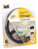 Лента светодиодная LED 5м блистер LSR-3528WW120-9.6-IP20-12V IEK-eco