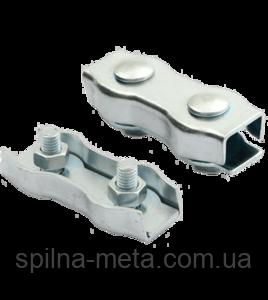 Зажим провода или шнура седельный  двойной 3 мм. для электропастуха