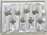 Сктерть 150х220 + 8 салфеток с держателями в подарочной коробке (Kol-S02)