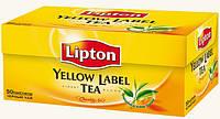 Чай Липтон Черный 50 шт.Чай черный в пакетиках Lipton Yellow Label 50 шт. Есть Товар в розницу., фото 1