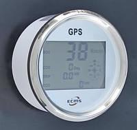 GPS спидометр с компасом ECMS белый