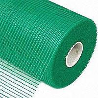 Сетка стеклотканевая зеленая армирующая фасадная штукатурная 135г\м2 - 5*5мм ( для наружных работ )