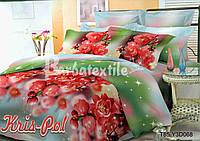 Комплект постельного белья 3D семейный, полиэстер. Постільна білизна. (арт.6785)