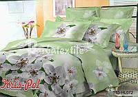 Комплект постельного белья 3D семейный, полиэстер. Постільна білизна. (арт.6797)