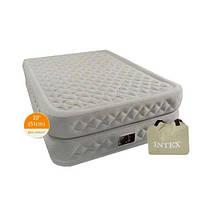 Велюр кровать 66964 высокая, односпальная, с функцией памяти и встроенным насосом 220 V 99-191-51,см CXP