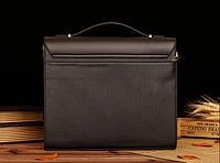 Мужской кожаный портфель Polo. Модель - 423, фото 3