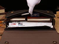 Мужской кожаный портфель Polo. Модель - 423, фото 4