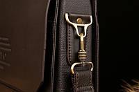 Мужской кожаный портфель Polo. Модель - 423, фото 5