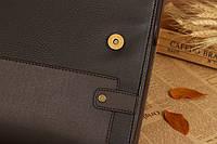 Мужской кожаный портфель Polo. Модель - 423, фото 8