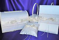 Набор аксессуаров для свадьбы, украшенные кружевом и брошью
