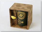 Кружка с ложкой в подарке COFFEE 320мл в ас 4 Bonadi FN47 Фарфор