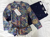 Блузка-туника с лосинами для девочки