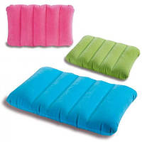 Подушка велюровая 68676 (24шт) надувная, 3 цвета, 43-28-9см FFP