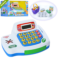 КАССОВЫЙ АППАРАТ 30261 калькулятор,продукты,корзинка, деньги,зв,на бат-ке,кор-ке  30,5-18-17см ZNK
