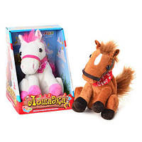 Лошадь MP 0780 (48шт) повторюшка, двигает головой, 22,5-17-17см, 2 цвета NM