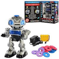 Робот 694686 R/ TT903A Электрон, интерактивный, работает от аккумулятора (в комплекте), музыка,говорит на русском языке, отвечает на вопросы,