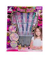 Детская косметика Тату j-003 трафареты, фломастеры, наклейки-блестки в коробке 22*3*17см