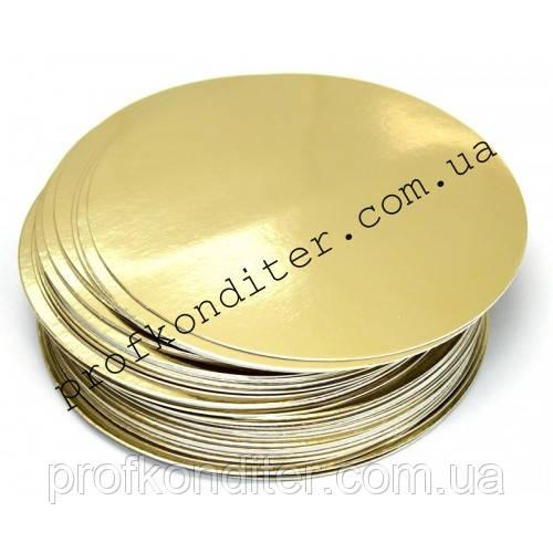 Подложка под торт золото/серебро, диаметр 26см