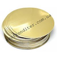 Подложка под торт золото/серебро, диаметр 25см