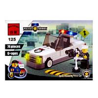 Конструктор BRICK 457798/125 (120шт) 74 детали, полицейская машина с радаром FFP
