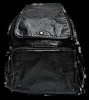 Симпатичный женский рюкзак из искусственной кожи черного цвета GWW-809223