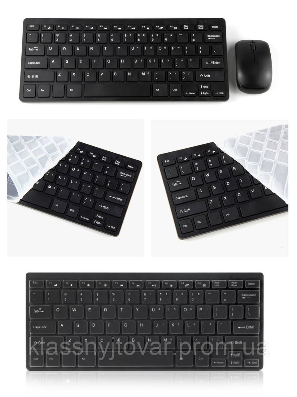 Беспроводная мини клавиатура UKC + мышь ЧЕРНАЯ.Wireless keyboard and mouse ukc!Акция