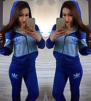 Костюм Спортивный ангоровый adidas синий н.б.