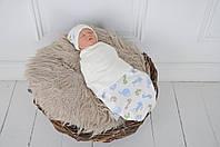 """Пеленка-кокон для новорожденного на липучках Half """"Графитти"""" от 0 до 3 мес, фото 1"""