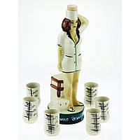 Коньячный набор Медсестра, 7 предметов