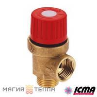 "ICMA Предохранительный клапан 242 1/2"" 3,5 бар"