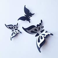Интерьерные 3d наклейки Набор 3Д бабочек Грация (двухслойные, картонные), фото 1