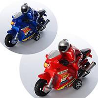 Мотоцикл с мотоциклистом 16см 2031