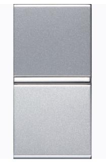 ABB Zenit Механизм Выключателя одноклавишный проходной (1 модуль) серебро