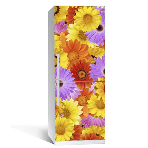 Интерьерная наклейка на холодильник Многоцвет виниловая полноцветная печать глянцевая с ламинацией 650*2000